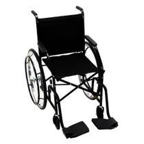Cadeira de Rodas CDS Dobrável Modelo 102 Adulto com Braços Fixos, Pedais Fixos, Dobrável, Freios Bilaterais, Pneus Infláveis - Cds Cadeira