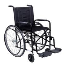 Cadeira De Rodas Cds M2000 Preta Com Pneus Maciços -