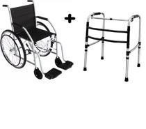 Cadeira de rodas cds rodas raiadas pneus maciços top - nova -