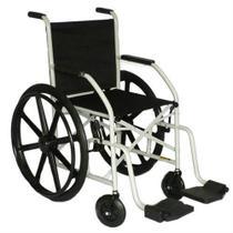 Cadeira de rodas com Pneu Maciço (Roda em Nylon) Dobrável em X CDS -