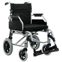 Cadeira de rodas compacta estrutura e encosto dobrável Praxis Barcelona Larg assento 46cm -