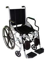 Cadeira de Rodas Leblon Pneu Maciço Cinza 44 cm - CARONE -