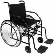 Cadeira de Rodas Modelo 101 Pneu Maciço - CDS-Preto -