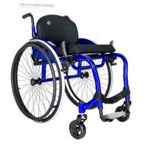 Cadeira de Rodas Monobloco Alumínio Ortomobil MB4ER Peso Leve com Encosto Rígido -