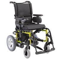 Cadeira de rodas motorizada Ortobras e4 alumínio estrutura e encosto dobrável -