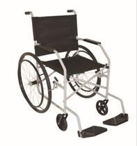 Cadeira de rodas pneu maciço cinza jeri 1009 - carone -