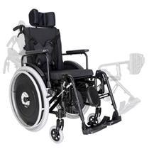 Cadeira de Rodas Reclinável Alumínio Ortomobil MA3R Dobrável X com Apoio de Cabeça -