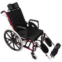 Cadeira de Rodas Reclinável Confort Tetra 44cm Vinho - Prolife -