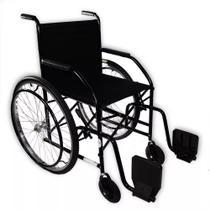 Cadeira De Rodas Semi Obeso CDS 101 Pneus Maciços Preto -