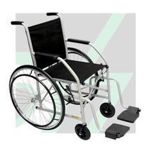 Cadeira de Rodas Simples com Pneu Maciço CDS Dobrável -