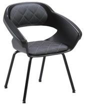 Cadeira de salão de beleza - Espera Primma Plus Dompel - Preto -