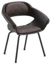 Cadeira de salão de beleza - Espera Primma Plus Dompel - Tabaco -