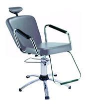 Cadeira de salão de beleza - Nix Dompel - Prata-Com Reclínio -