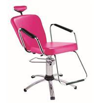 Cadeira de salão de beleza - Nix Dompel - Rosa-Com Reclínio -