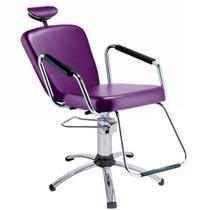 Cadeira de salão de beleza - Nix Dompel - Roxo-Com Reclínio -