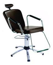 Cadeira de salão de beleza - Nix Dompel - Tabaco-Com Reclínio -