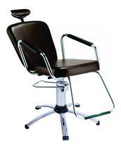 Cadeira de salão de beleza - Nix Dompel - Tabaco-Sem Reclínio -