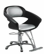 Cadeira de salão de beleza - Primma Dompel - Preto/Cinza -