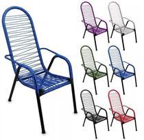Cadeira De Varanda Cadeira De Área Cadeira De Fio Colorido - Tito