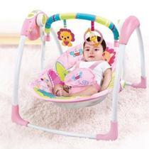 Cadeira Descanso Musical Automática Rosa Leão até 11kg Mastela -