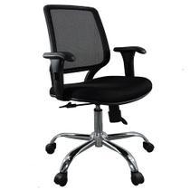 Cadeira diretor base giratória cromada tela mesh staff - DESIGN CHAIR