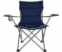 Cadeira Dobravel Boni Azul Camping Pesca Nautika Bolsa -