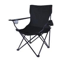 Cadeira dobrável com porta-copo  preta - ALVORADA - Nautika