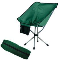 7b20d1852 Cadeira Dobravel Joy para Camping e Pesca com Bolsa para Transporte Verde  Militar Guepardo