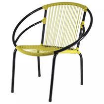 Cadeira Eclipse Famais Ferro Liso Artesanal - Amarela -
