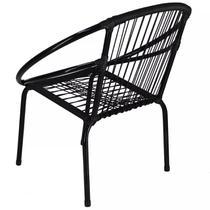 Cadeira Eclipse Famais Ferro Liso Artesanal - Preta -
