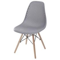 Cadeira eiffel furadinha cinza escuro - MOZZONI