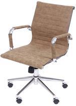 Cadeira Escritorio Eames Courissimo Retro Castanho - 37606 - Sun House