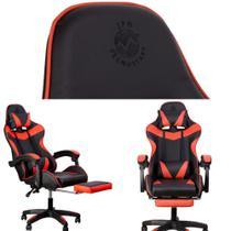 Cadeira Escritorio/Gamer Tecnostart giratória/reclinável com apoio para Pernas - Jpn Tecnostart