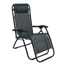Cadeira Espreguiçadeira Pelegrin PEL-001Z Gravidade Zero em  Tela Mesh Verde -