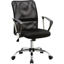 Cadeira Executiva Pelegrin Pel-501 Giratória com Regulagem de Altura a Gás Preto -