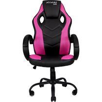 Cadeira Gamer MX0 Giratória Preto e Rosa Mymax -