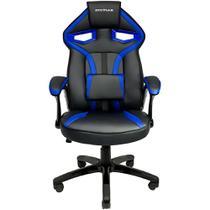 Cadeira Gamer MX1 Giratoria Preto e Azul Mymax -