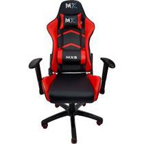 Cadeira Gamer MX5 Giratoria Preto e Vermelho Mymax -