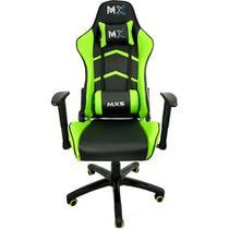 Cadeira Gamer MX5 Giratoria Preto/Verde Mymax -