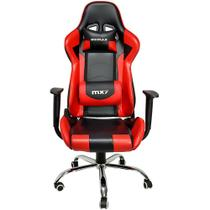 Cadeira Gamer MX7 Giratoria Preto/Vermelho Mymax -