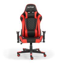 Cadeira Gamer PCTop Deluxe Vermelha -X-2521 -