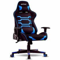 Cadeira Gamer PCTOP Preta e AZUL - X-2555 -