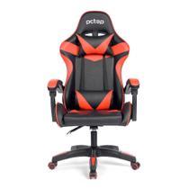 Cadeira Gamer Pctop Strike 1005 Vermelha/Preta Giratoria -