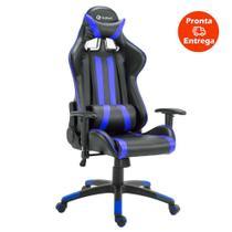 Cadeira Gamer Pro Reclinável Base Giratória Gallant Preto/Azul -