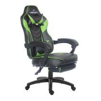 Cadeira gamer reclinável com apoio de pés Alien Healer TM Preto/Verde - Travel Max