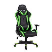 Cadeira Gamer reclinável Strike Healer TM Verde/Preto - Travel Max