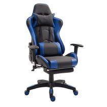 Cadeira Gamer T One Preta e Azul - Mobly