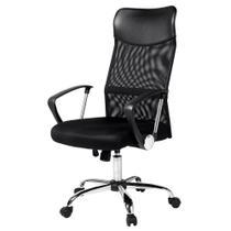 Cadeira giratória Presidente Detroit Com Apóia Cabeça encosto em tela e assento em espu - Unistore