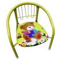 Cadeira Infantil Com Armação De Metal Estofado- 123 ÚTIL -