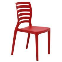 Cadeira Infantil Tramontina Sofia Vermelha em Polipropileno e Fibra de Vidro -